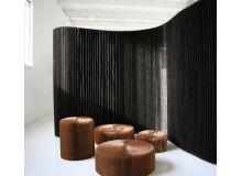 Biombo softwall kraft negro