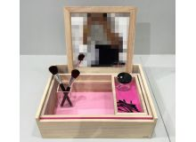 Caja tocador rosa