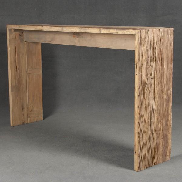 Consola de olmo y consola de madera  Batavia