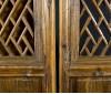 Biombo de madera tallada