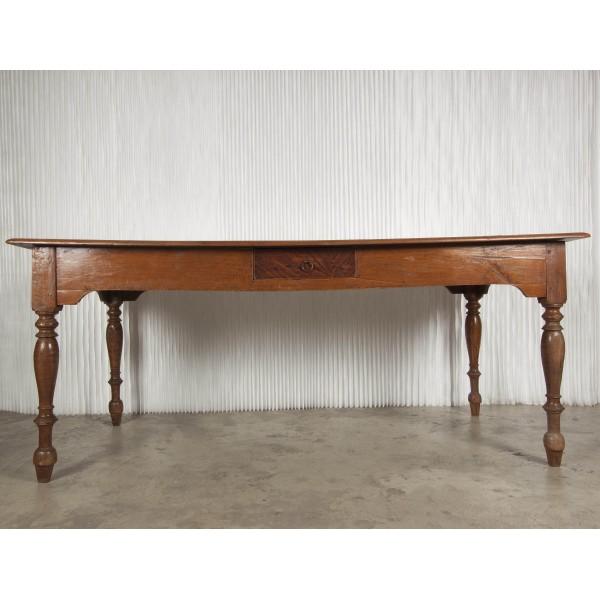Mesa de comedor y mesa de trabajo batavia - Mesas auxiliares antiguas ...