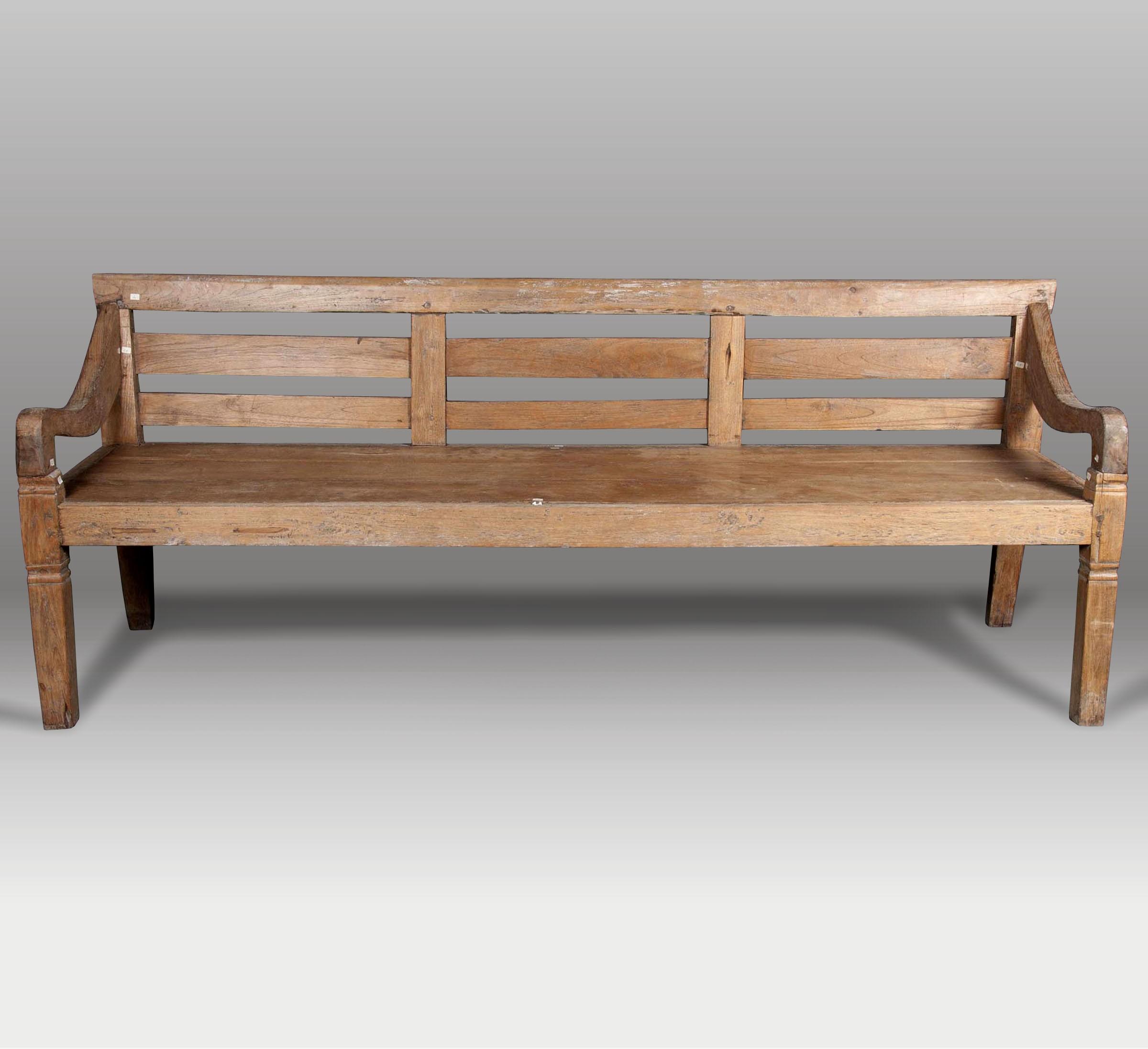 Banco y banco de madera batavia for Bancos merenderos de madera