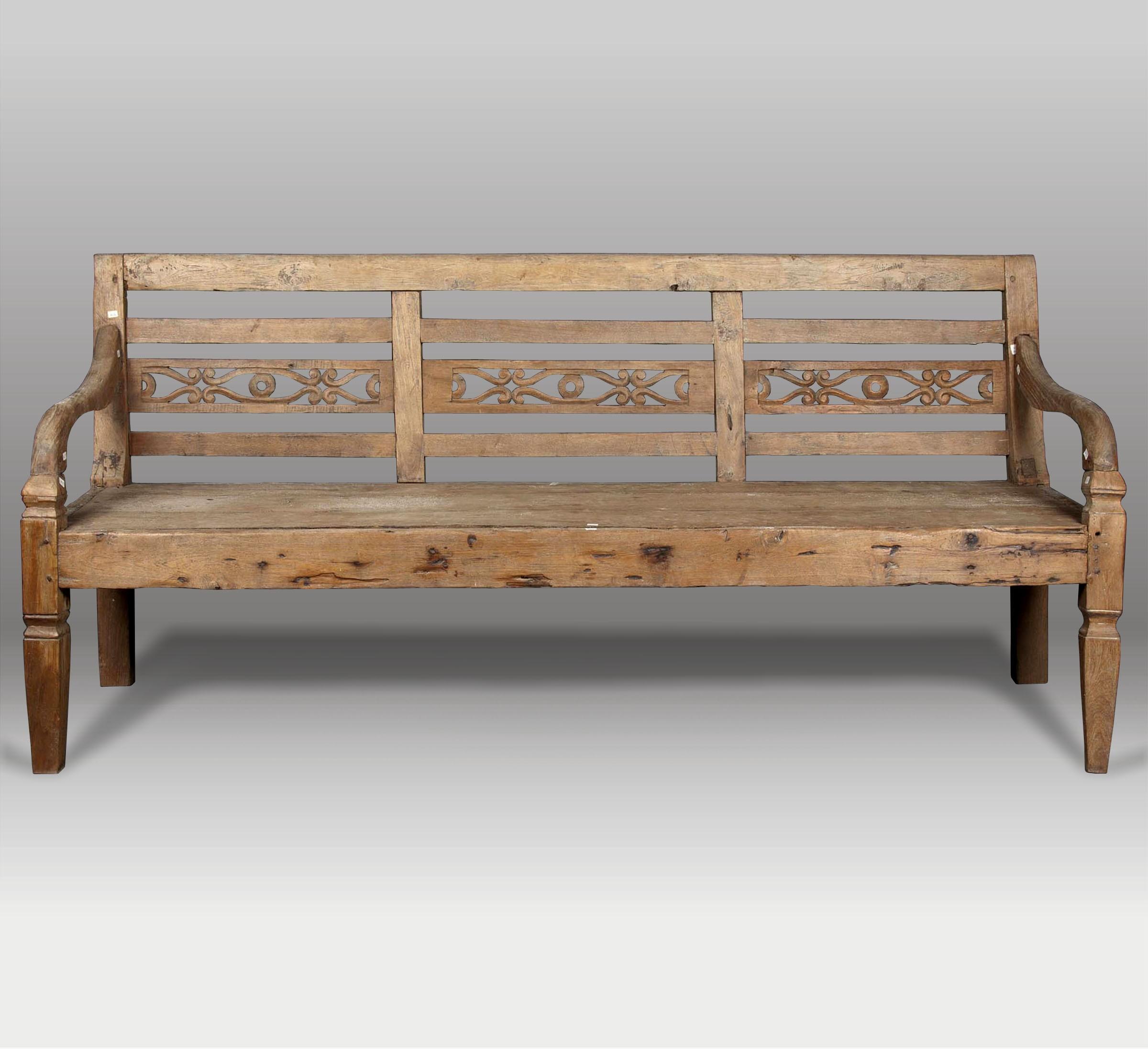Banco madera exterior conjunto de mesa y banco moderno de - Bancos madera exterior ...
