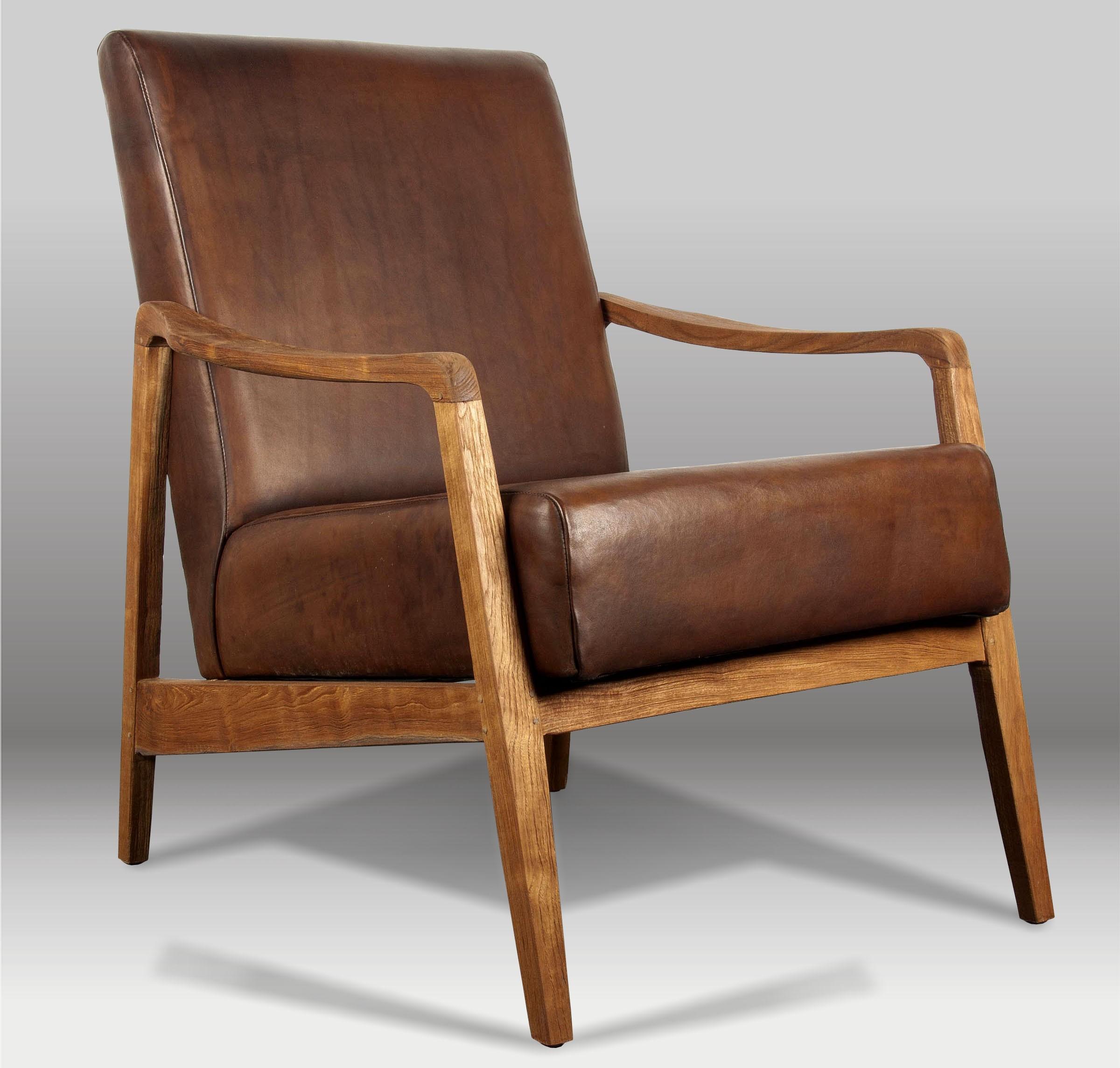 Butaca y butaca de piel batavia - Muebles anos 50 madrid ...