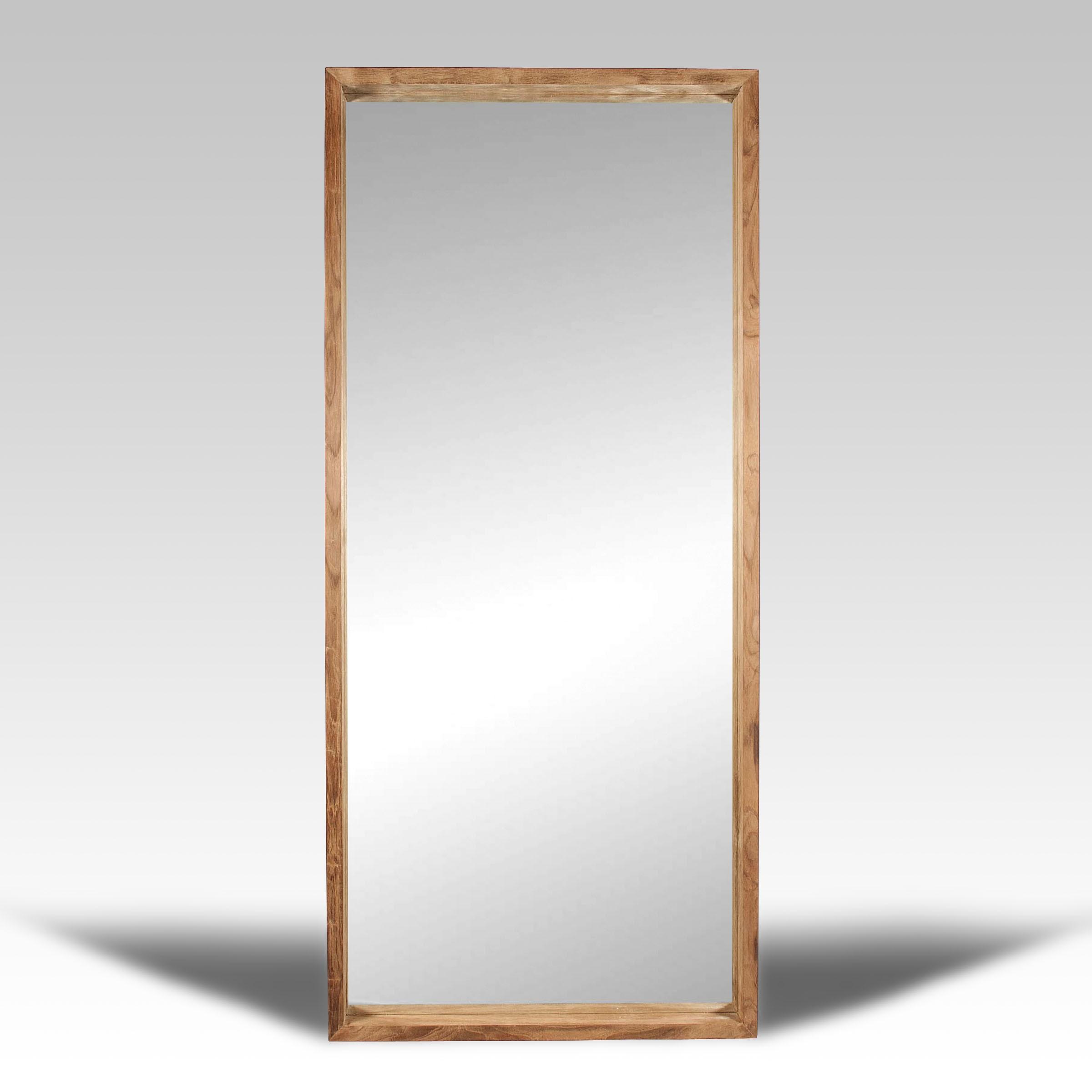 Espejo y espejo de madera batavia for Espejos de pie en madera