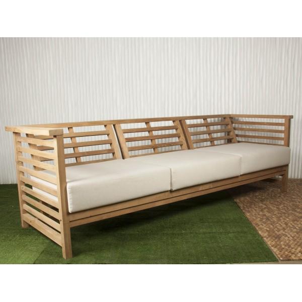 sof exterior y sof de madera batavia ForColchoneta Sofa Exterior
