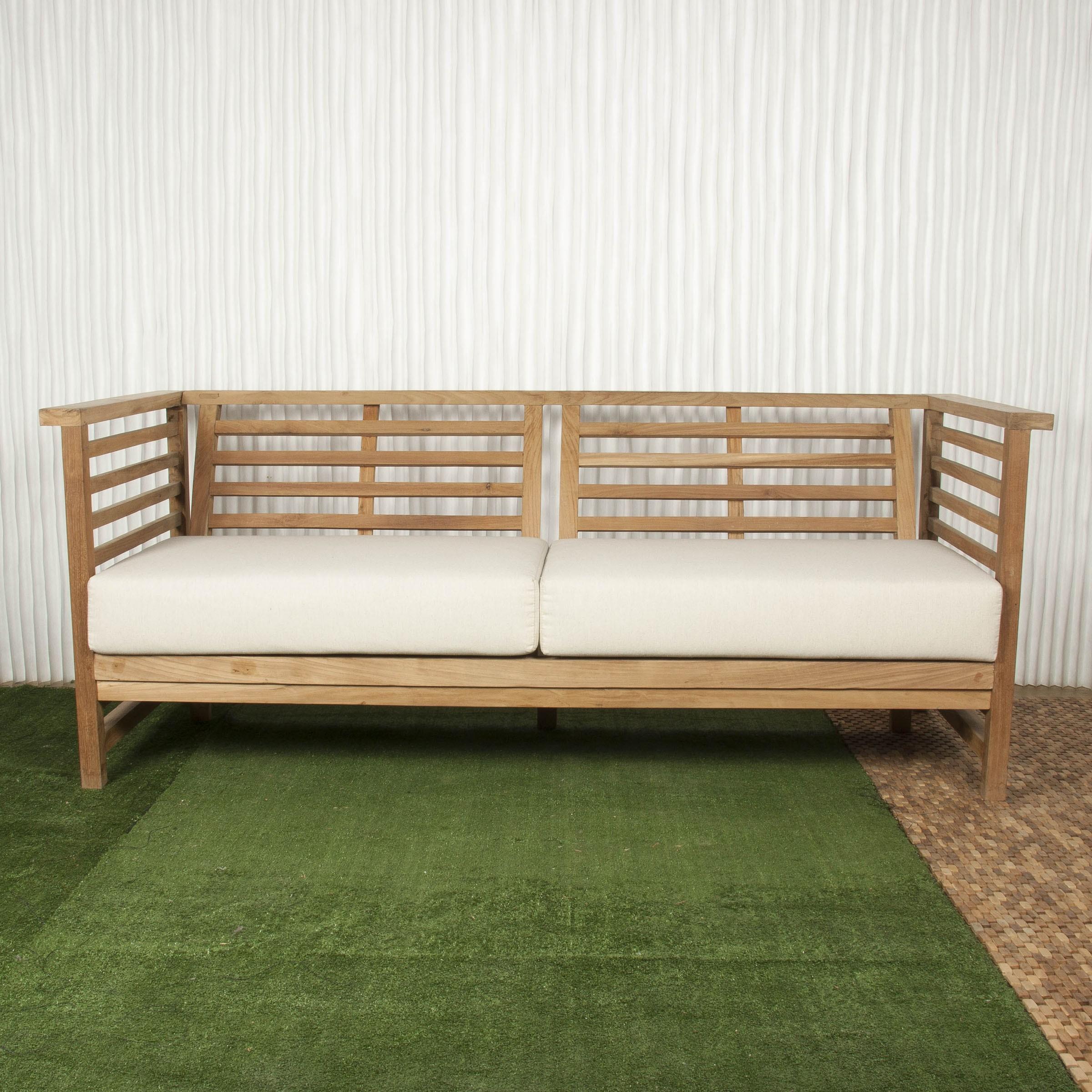 Sof exterior y sof de madera batavia for Sofa exterior hipercor