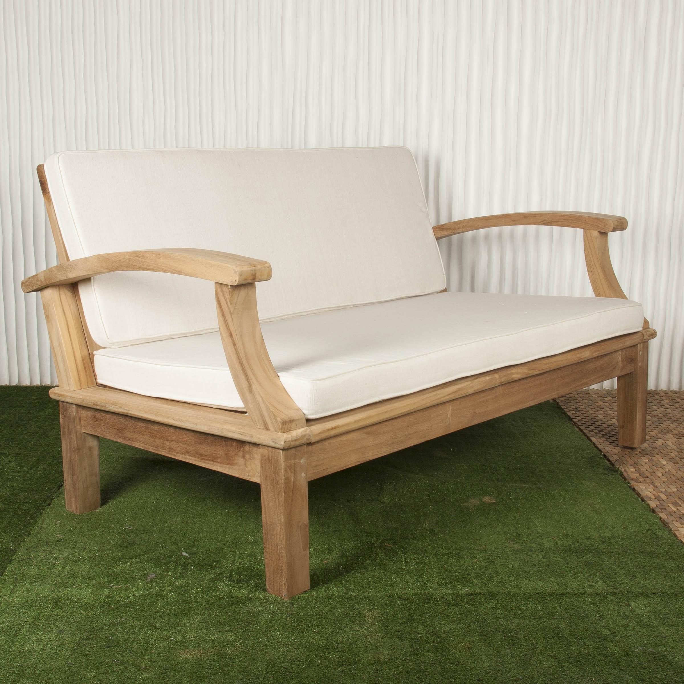 Sof exterior y sof de madera batavia for Sofa de madera para terraza