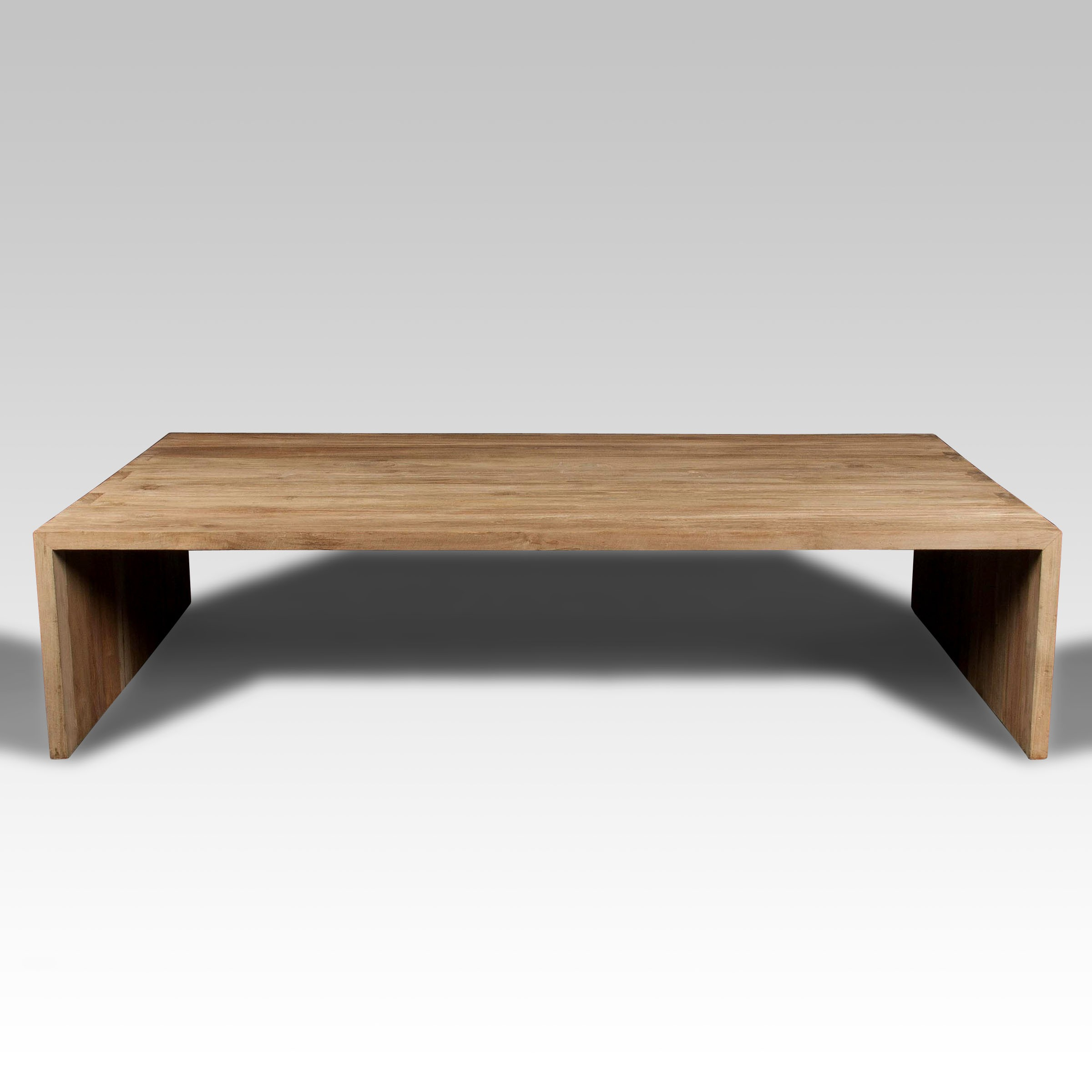 Mesa de centro y mesa de madera batavia for Mesas de centro grandes