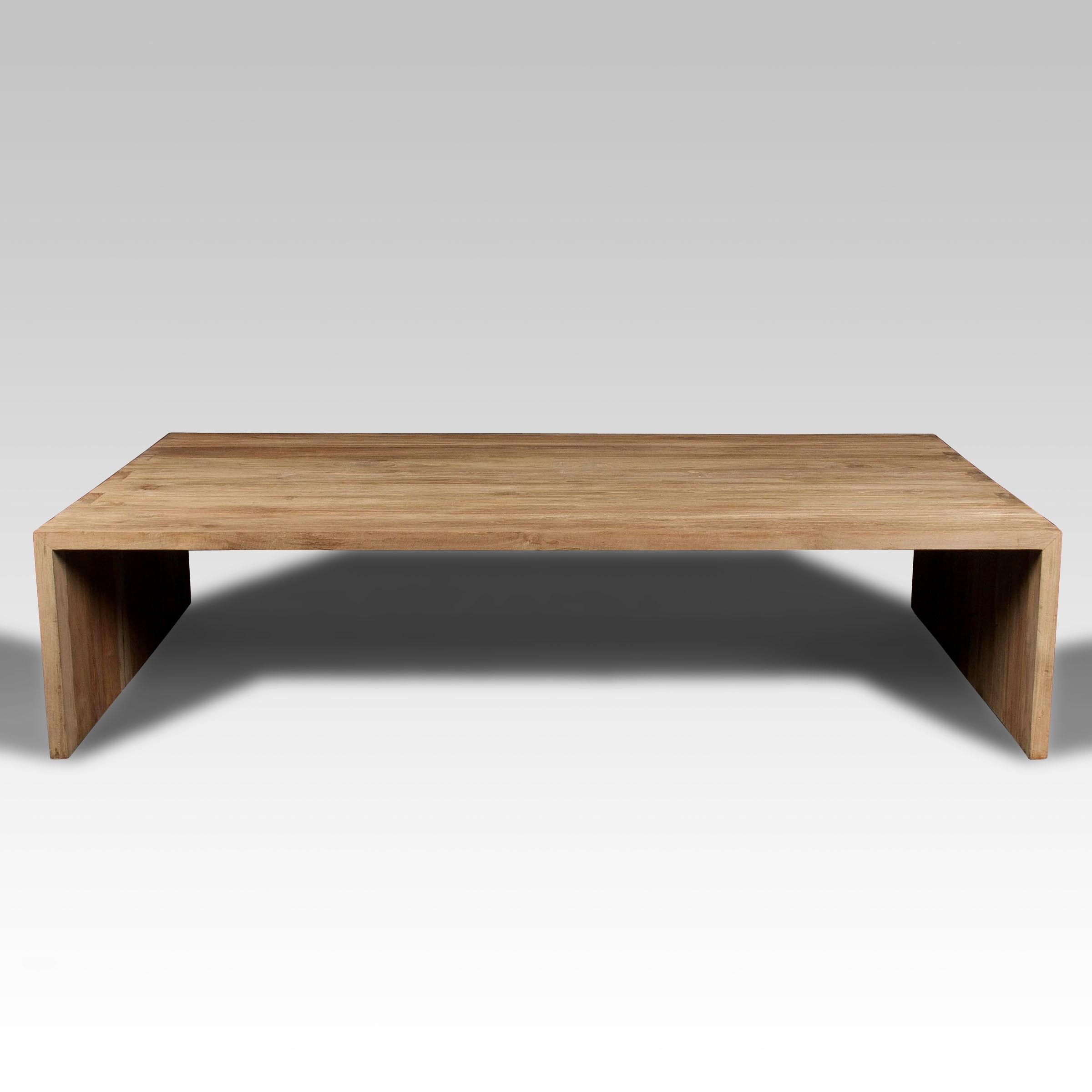Mesa de centro y mesa de madera batavia for Mesa salon madera