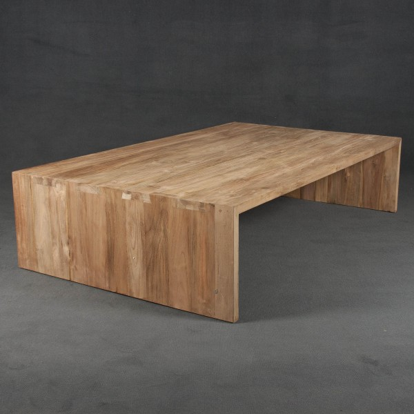 Mesa de centro y mesa de madera batavia - Mesa de teca ...
