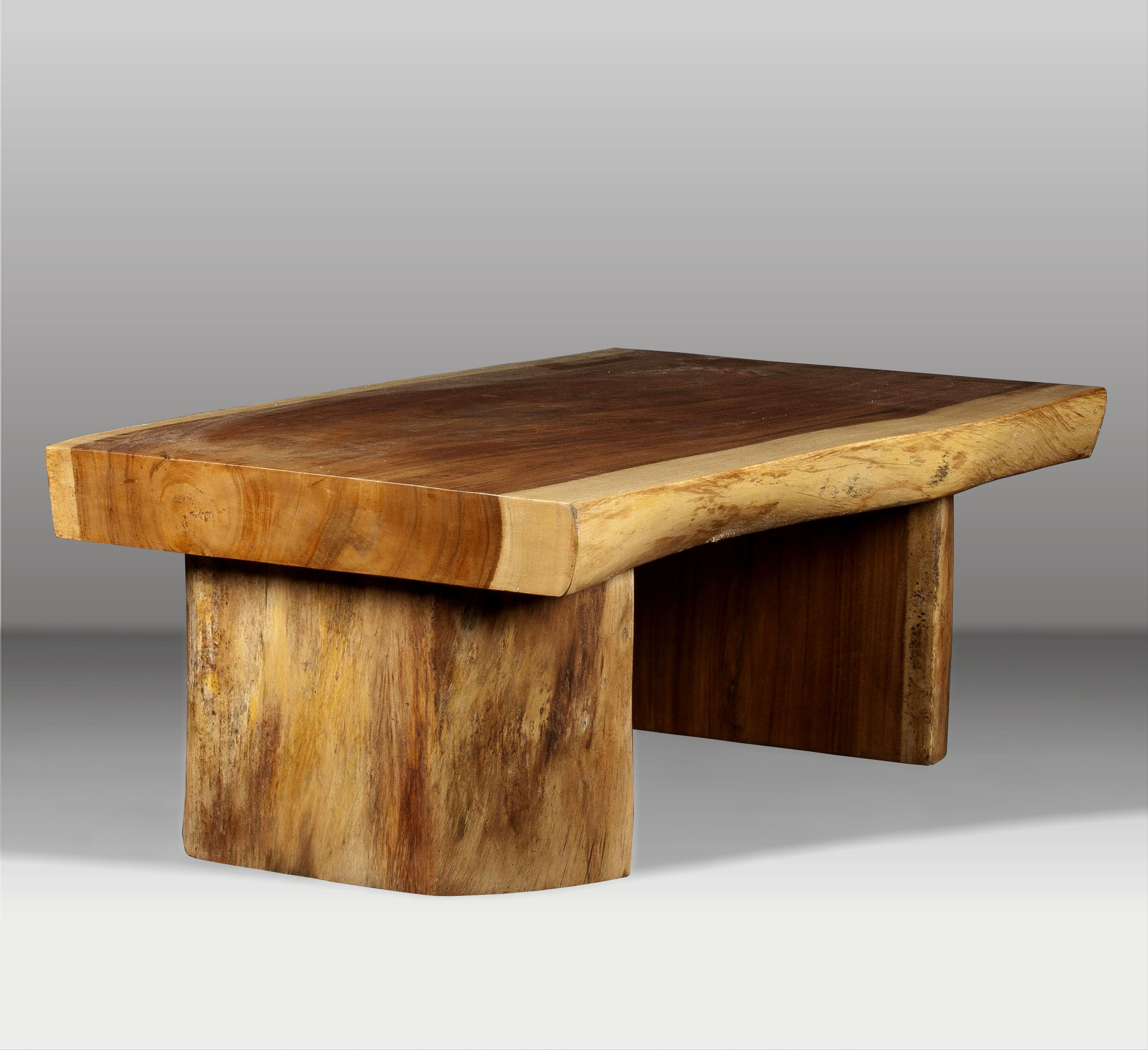 Mesa de centro y mesa de madera batavia - Mesas de troncos de madera ...