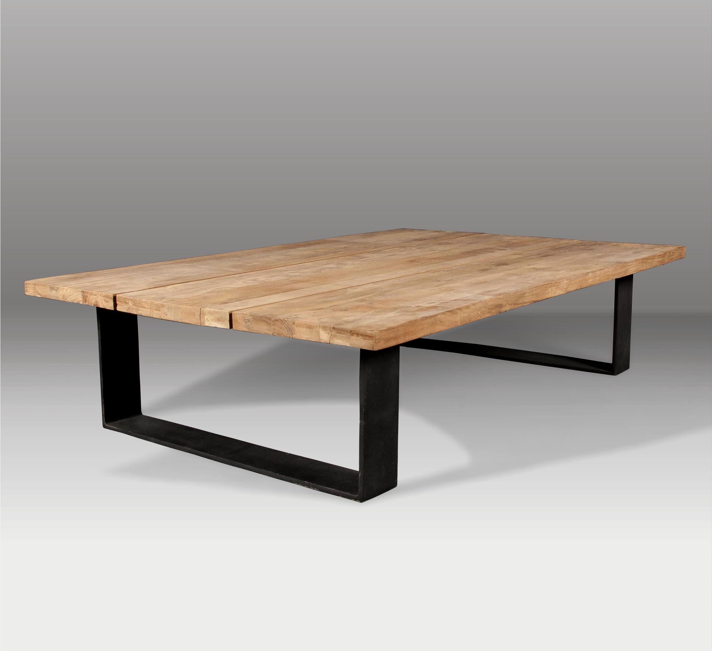 Mesa de centro y mesa de madera batavia - Mesa de centro de madera ...