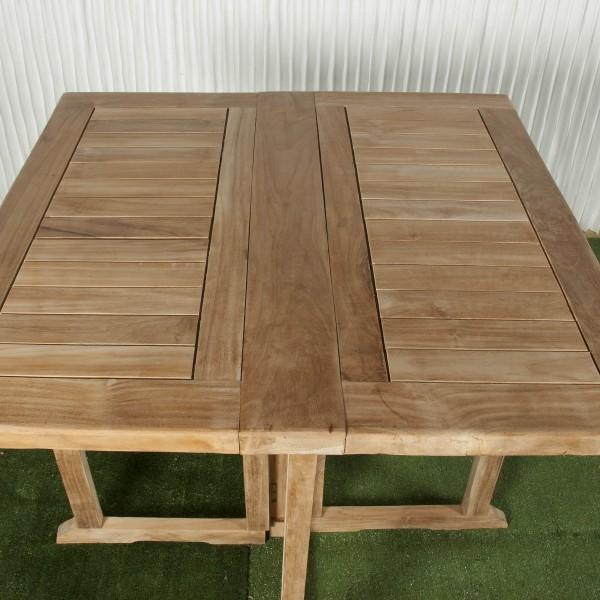 Mesa exterior y mesa plegable batavia for Mesa cuadrada plegable