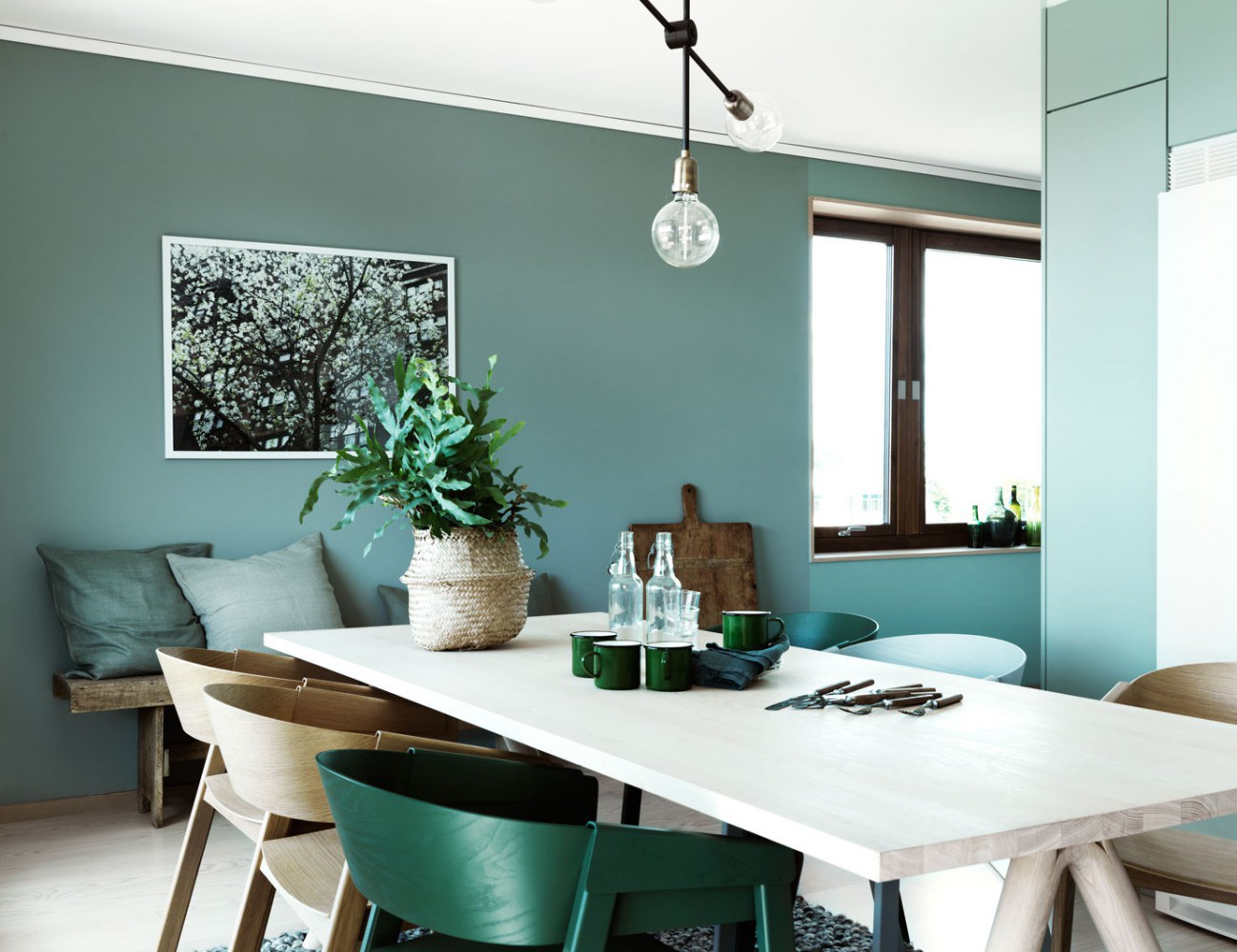 Tendencias de decoración 2017 paredes color verde oscuro