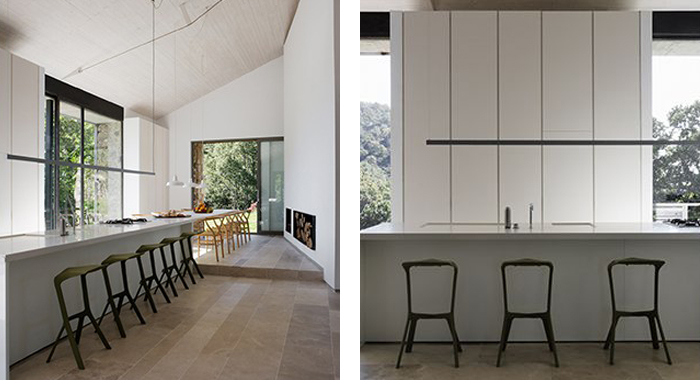 Taburete Miura de la marca Planken el proyecto Casa de Extremadura