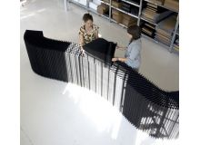 Biombo softblock textile negro | molo design