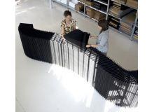 Biombo softblock textile negro