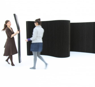 Biombo softwall textile negro * molo design