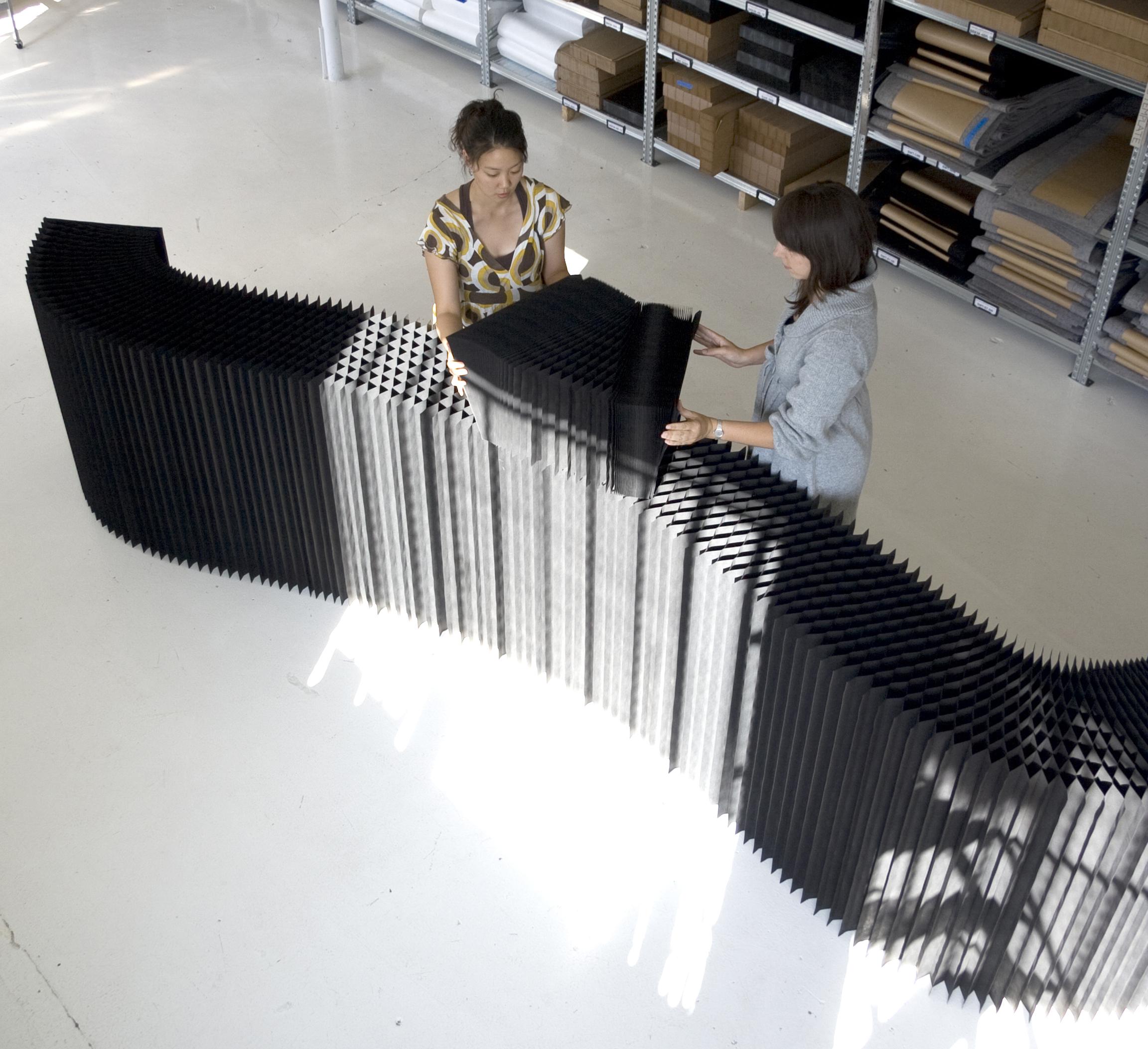 Biombo softblock kraft negro * molo design