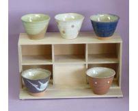 Set de 5 tazas de cerámica Evasé