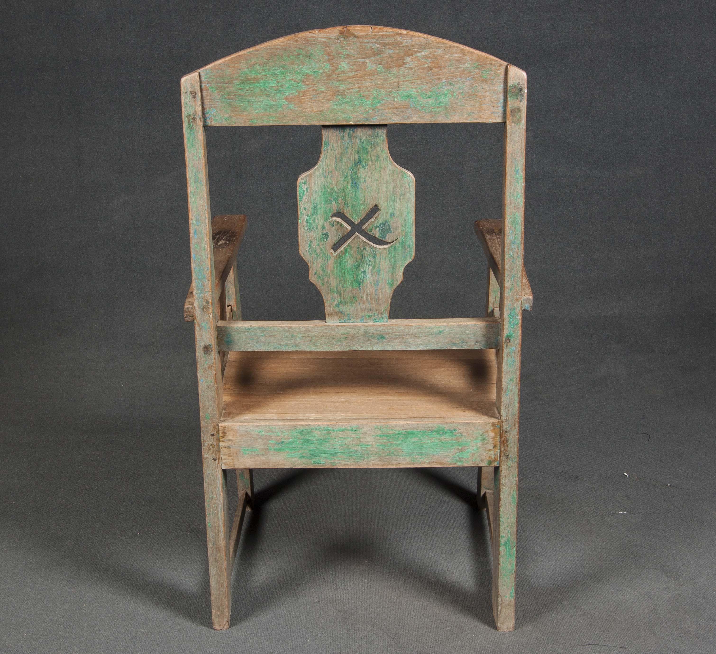 Pareja de sillas Javanesas verdes
