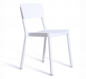 Silla Lisboa blanca sin brazos