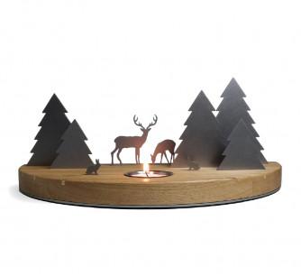 Escena navideña con reno