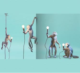 Lámpara de Resina Monkey