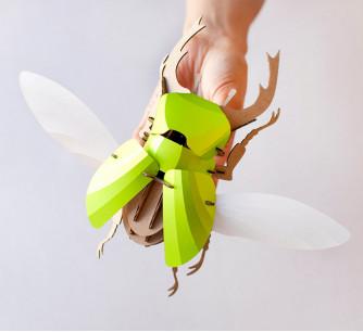 Escarabajo Stag verde lima