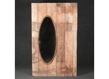 Espejo de madera reciclada