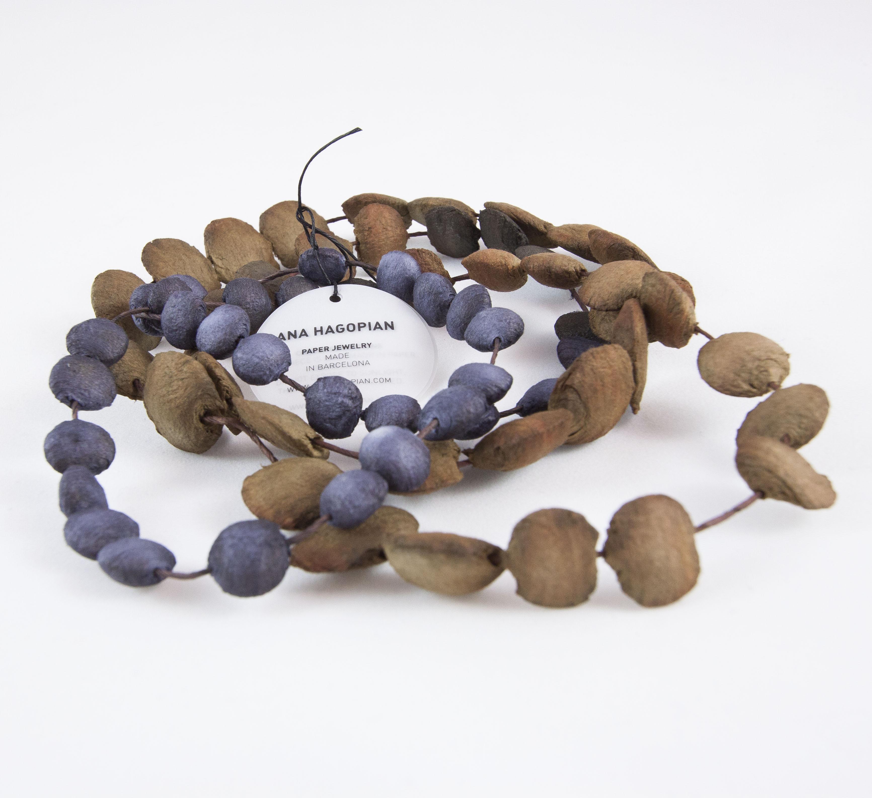 Collar Stones Long marrón