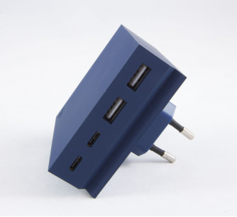 Cargador Mini Hide 2USB A + 2USB C