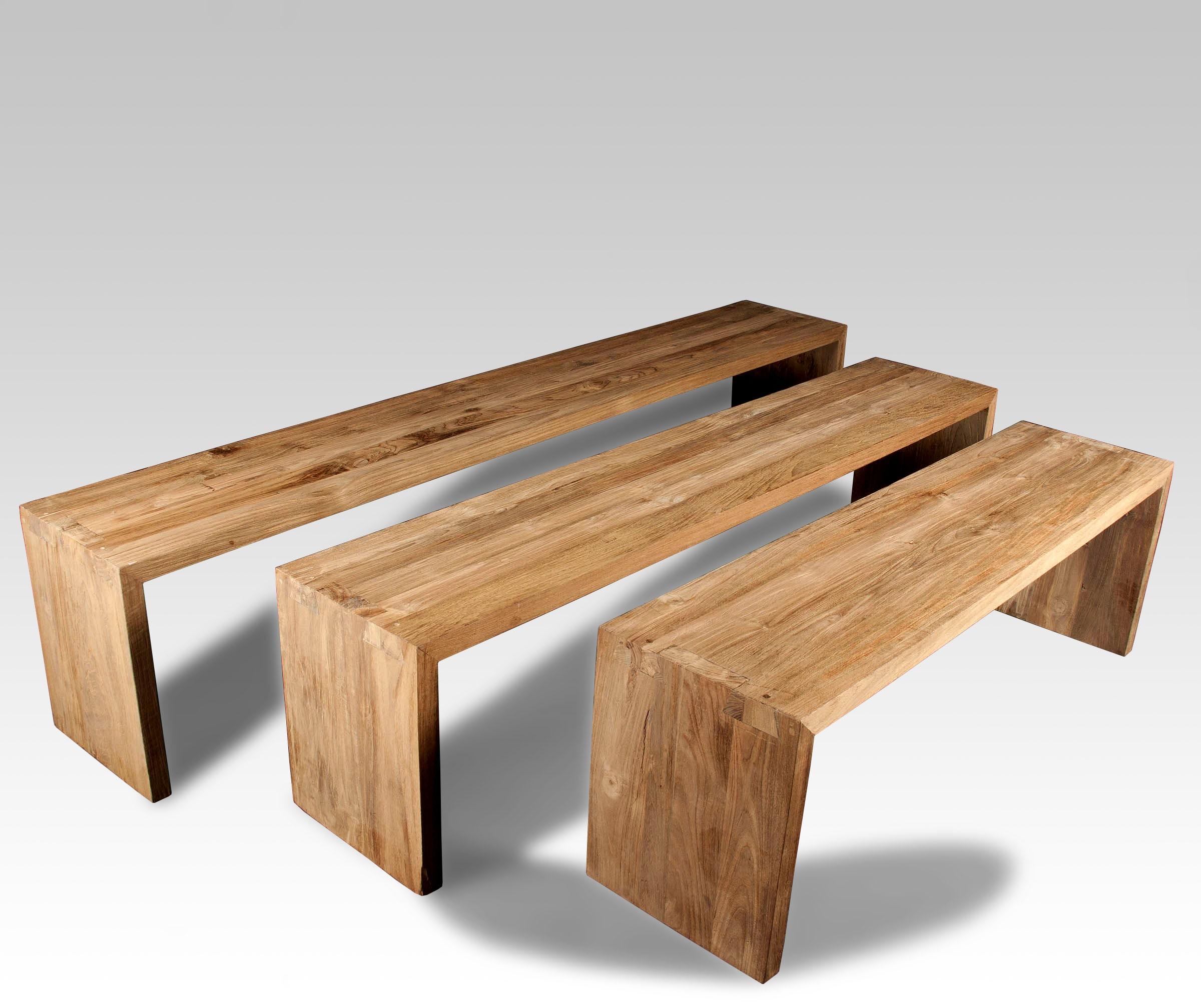 Bancos y bancos de madera batavia for Banco de madera exterior