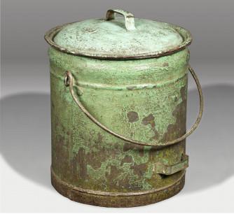 Contenedor de metal para arroz