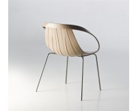 Silla Impossible Wood base blanca * Moroso