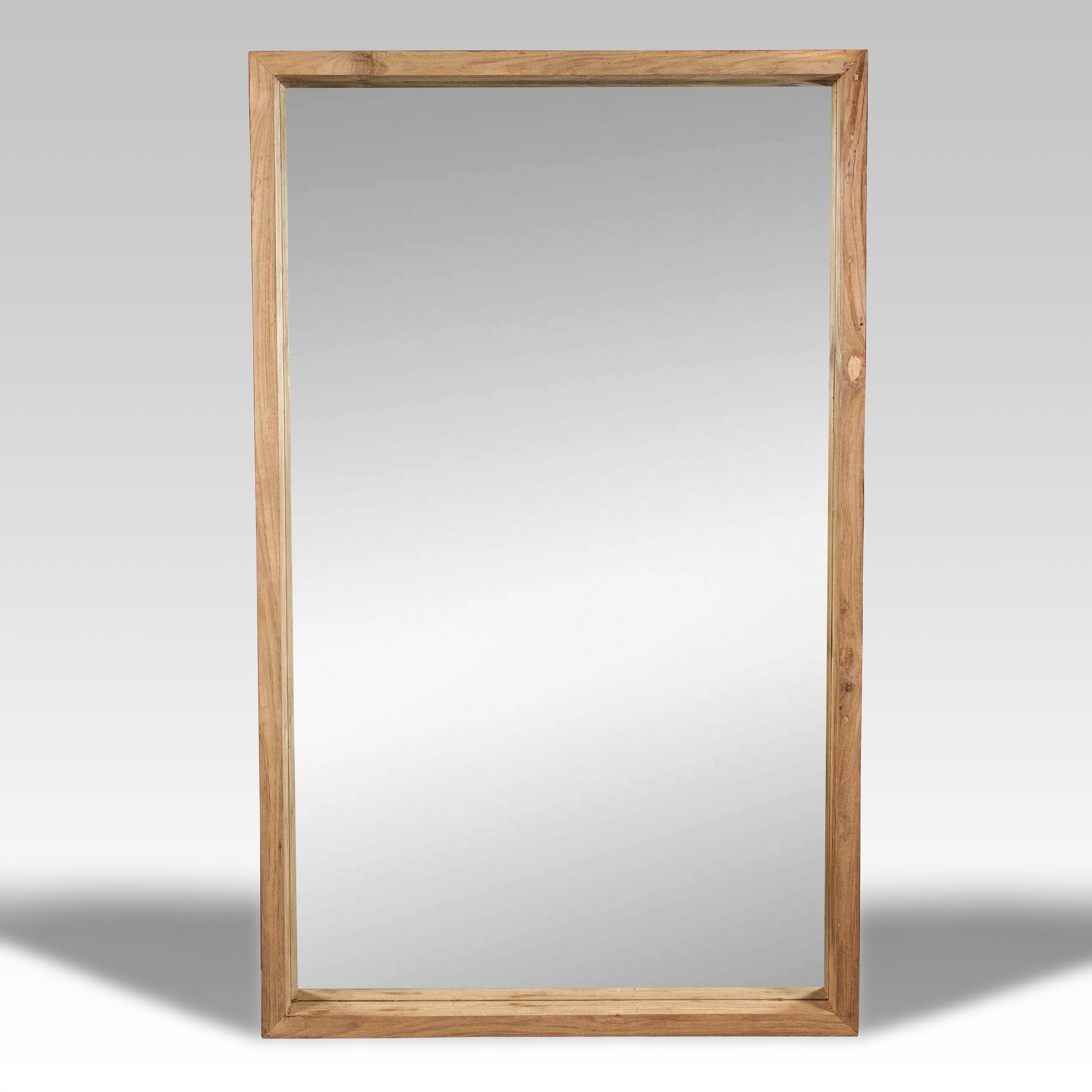 Espejo y espejo de madera batavia for Espejos decorativos de pie