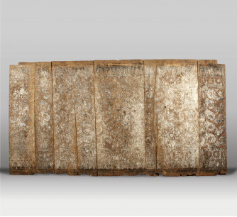 Panel antiguo con policromía