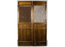 Puertas de biombo de madera tallada