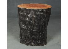 Taburete tronco de corteza negra