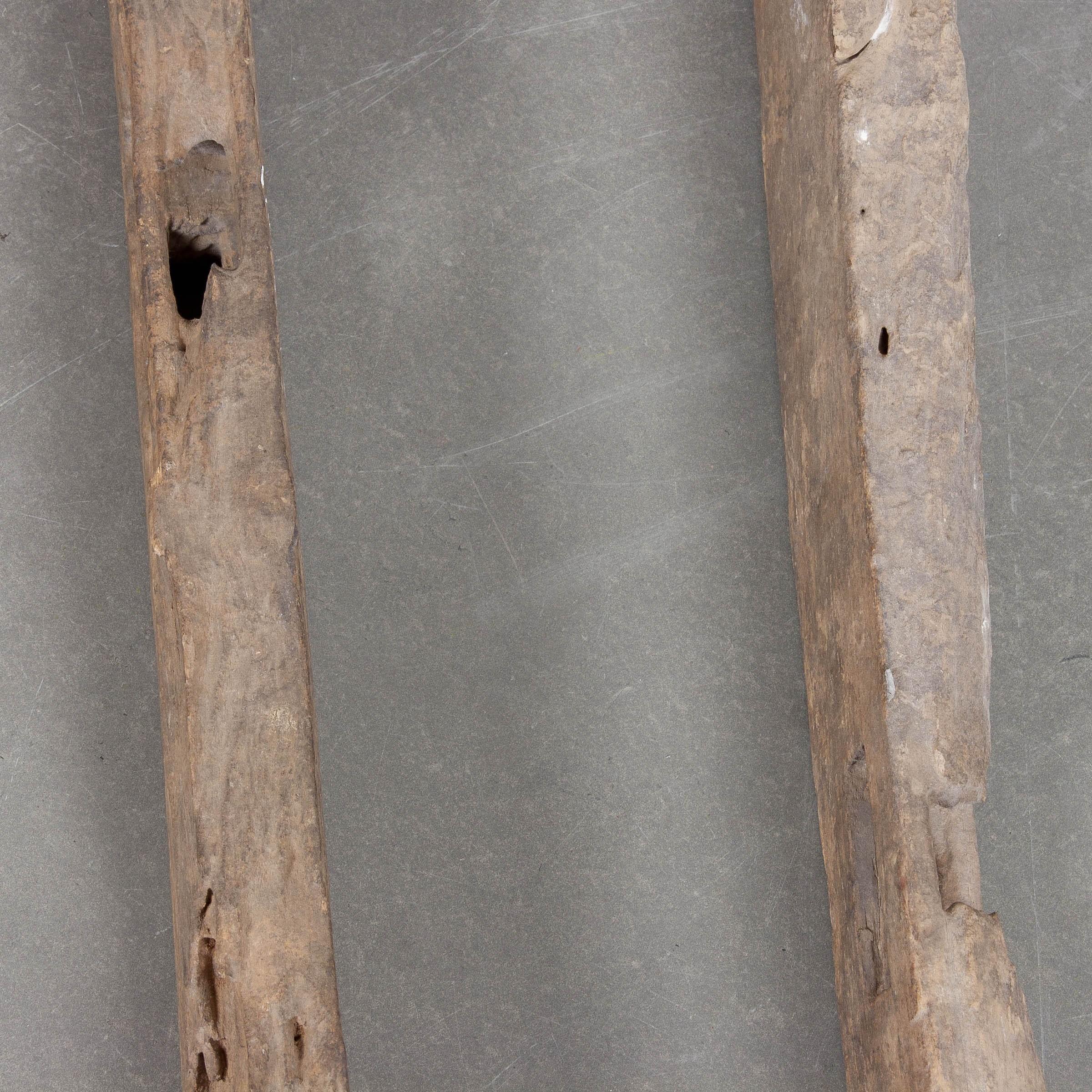 Pareja de arados antiguos