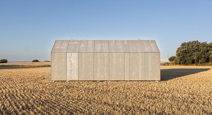 Imagen de la casa transportable cerrada