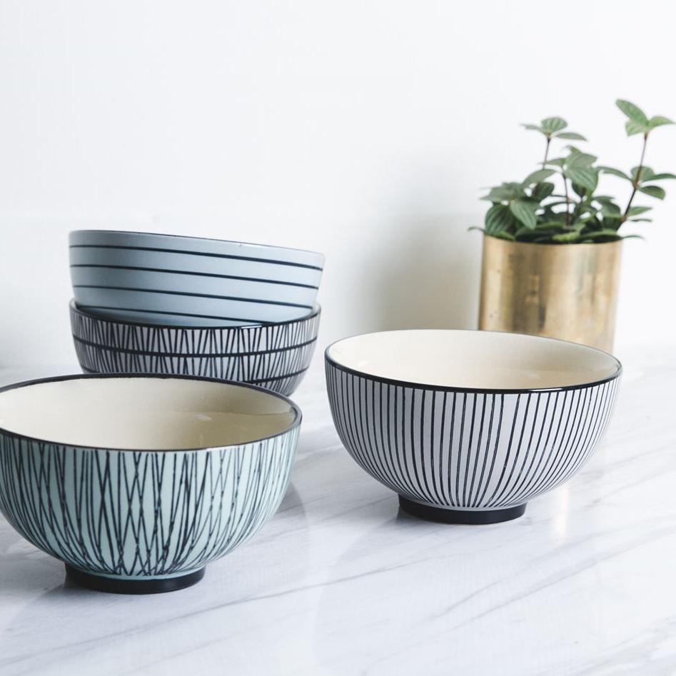 set de cuencos de cerámica de pols potten en batavia