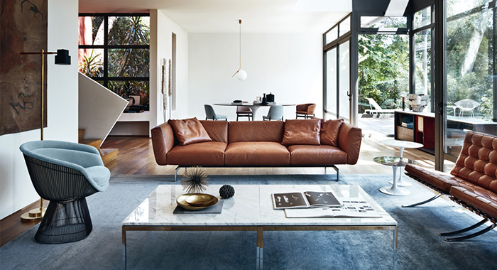 detalle del sofa avio de knoll diseñado por piero lissoni disponible en BATAVIA