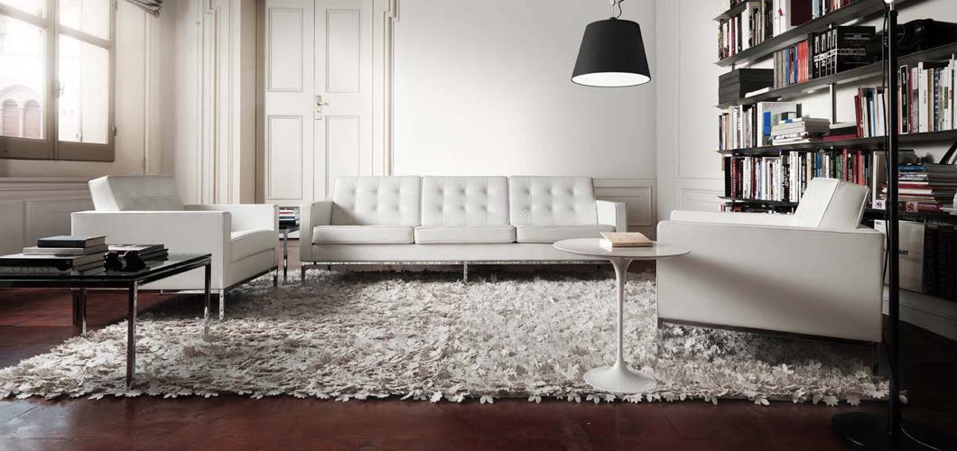 Sofá Florence de Knoll de color blanca