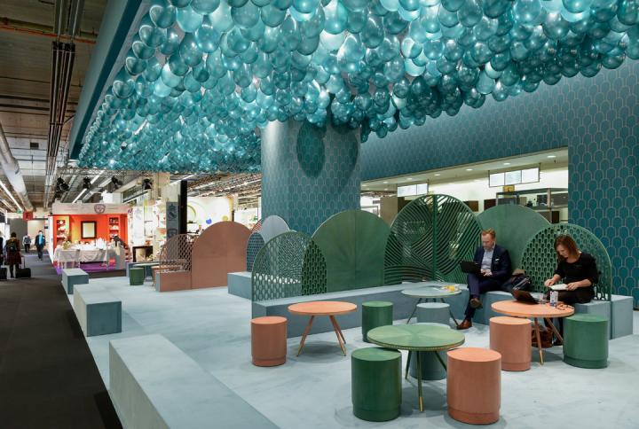Detalle del Café Jade Serenity, creado por la diseñadora Bethan Gray