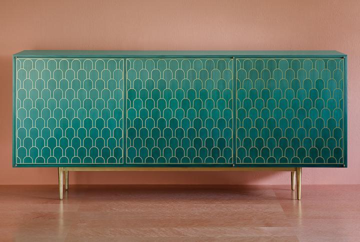 Mueble colecciones propias boutique de la diseñadora Bethan Gray