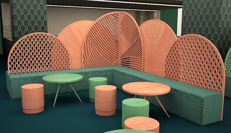 Detalle del Café Jade Serenity en la Feria Ambiente