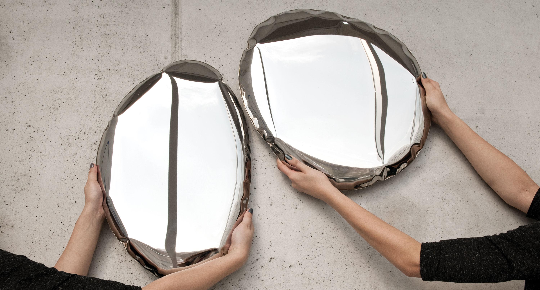 Espejos de diseño para el salón Tafla O3 de Zieta