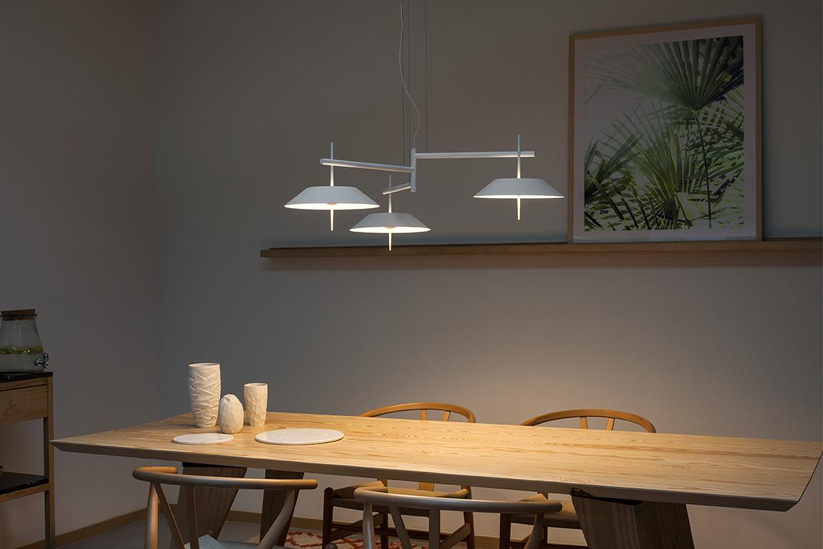 Lámpara colgante Vibia Myfair de diseño minimalista